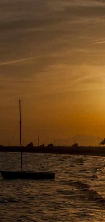 Atardecer en Playa de la Gola (Santa Pola)
